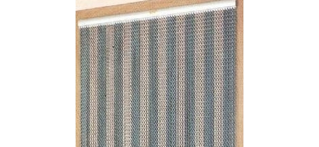 Chain Link Window Fly Screens  - Stripes