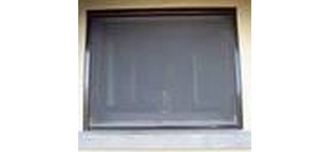 Window Roller Blind Fly Screen - Kit 2 Brown Alu