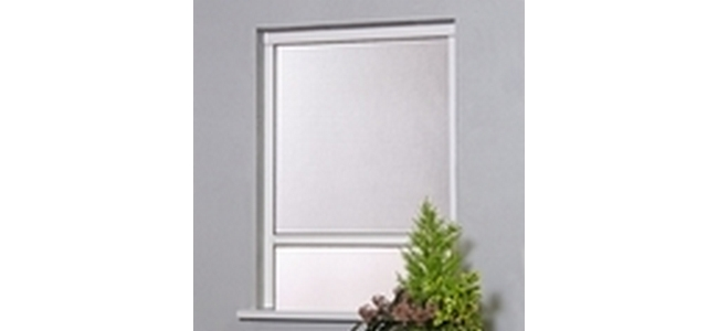 Window Roller Blind Fly Screen - Kit 1 White UPVC