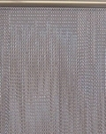 Chain Link Window Fly Screen Curtain - Silver